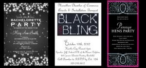 These Black And Bling Invitations Really Set The Tone For A Hen Party Theme